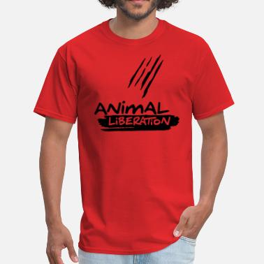 Meatfree Animal Liberation  - vector - Men's T-Shirt