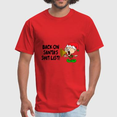 Santa List Santa's Shit List 2 - Men's T-Shirt