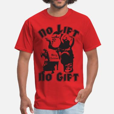 Satanic Bodybuilder No Lift, No Gift - Men's T-Shirt