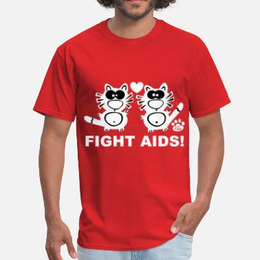 Hiv Aids Fight Aids Statement Catpaw Design Statement HIV   - Men's T-Shirt