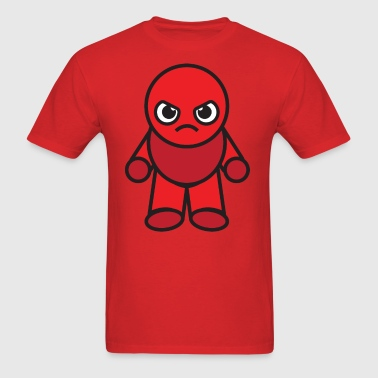 Kawaii Angry Boy - red - Men's T-Shirt
