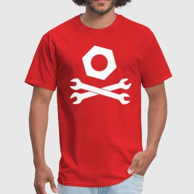 Nuts Wrench crossed spanner with nut - Men's T-Shirt