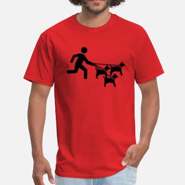 Sitting Dog sitter - Men's T-Shirt