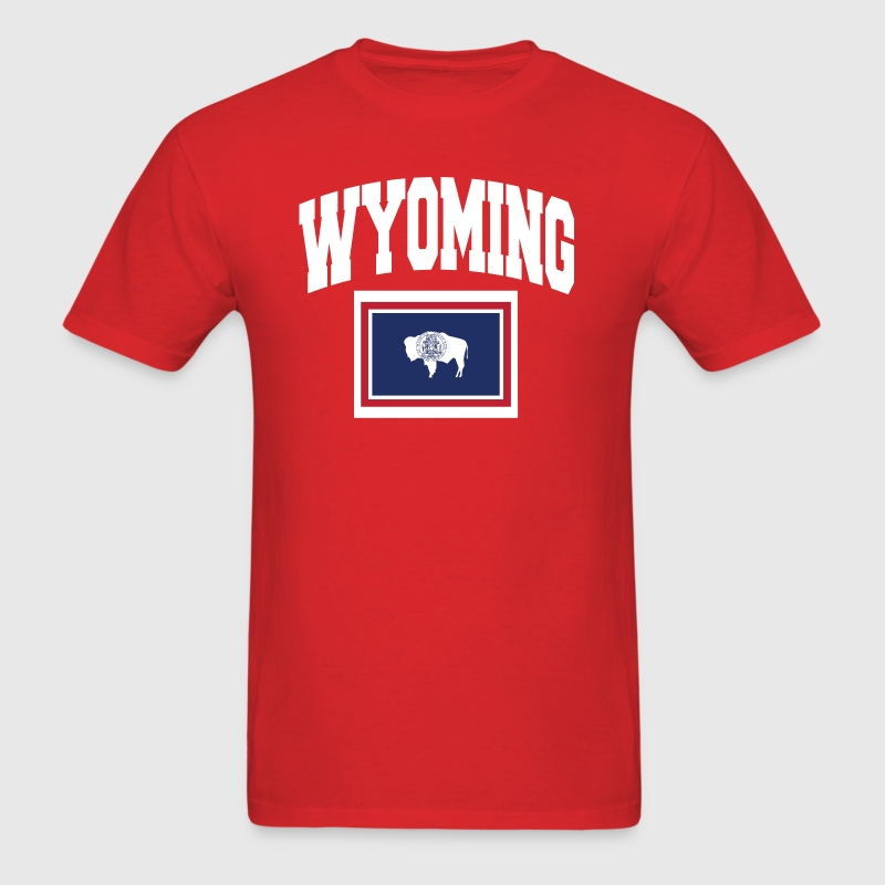 Wyoming Flag Map - Men's T-Shirt