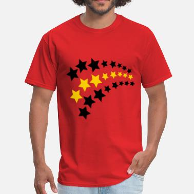 Super 3 Star Star Cascade, 3 Color - Men's T-Shirt