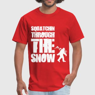 Sasquatch Christmas squatchin_through_the_snow - Men's T-Shirt