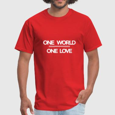 One World One World - One Love - Men's T-Shirt