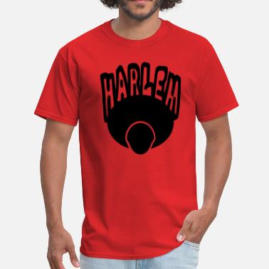 Harlem-new-york Harlem, Afro, Face--1 Color - Men's T-Shirt