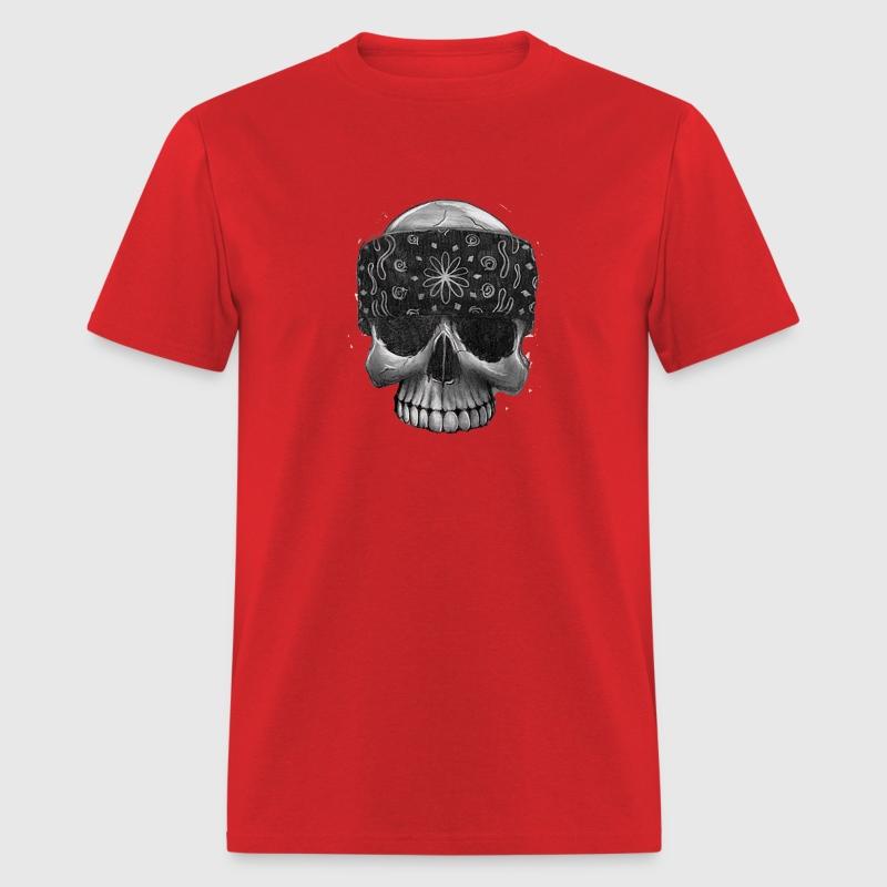 Gangster Skull Bandana T-Shirt   Spreadshirt