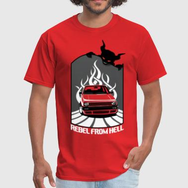 European Car Mk2 Car - Rebel in Hell - Men's T-Shirt