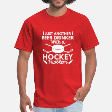 Canadian Drinking Beer Drinker Hockey - Men's T-Shirt