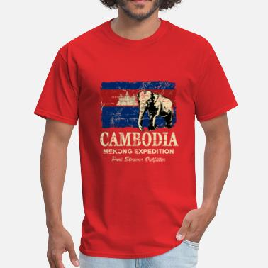 Flags Cambodia Cambodia Flag - Vintage Look - Men's T-Shirt
