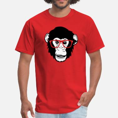 Ape Monkey Nerd monkey ape chimpanzee - Men's T-Shirt