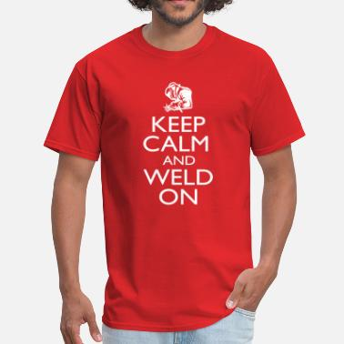 Retro Weld KEEP CLAM and WELD ON - Men's T-Shirt