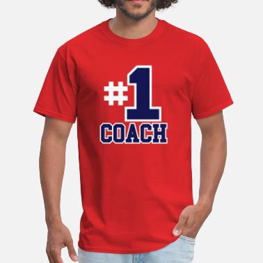 Junior Varsity Number One Coach Two Color Design - Men's T-Shirt