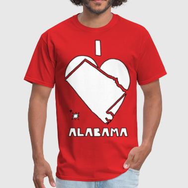 i heart alabama (white) - Men's T-Shirt