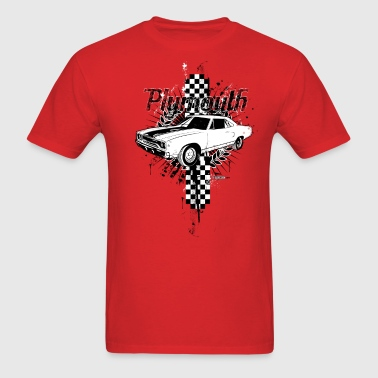 auto_plymouth_distressed_01 - Men's T-Shirt
