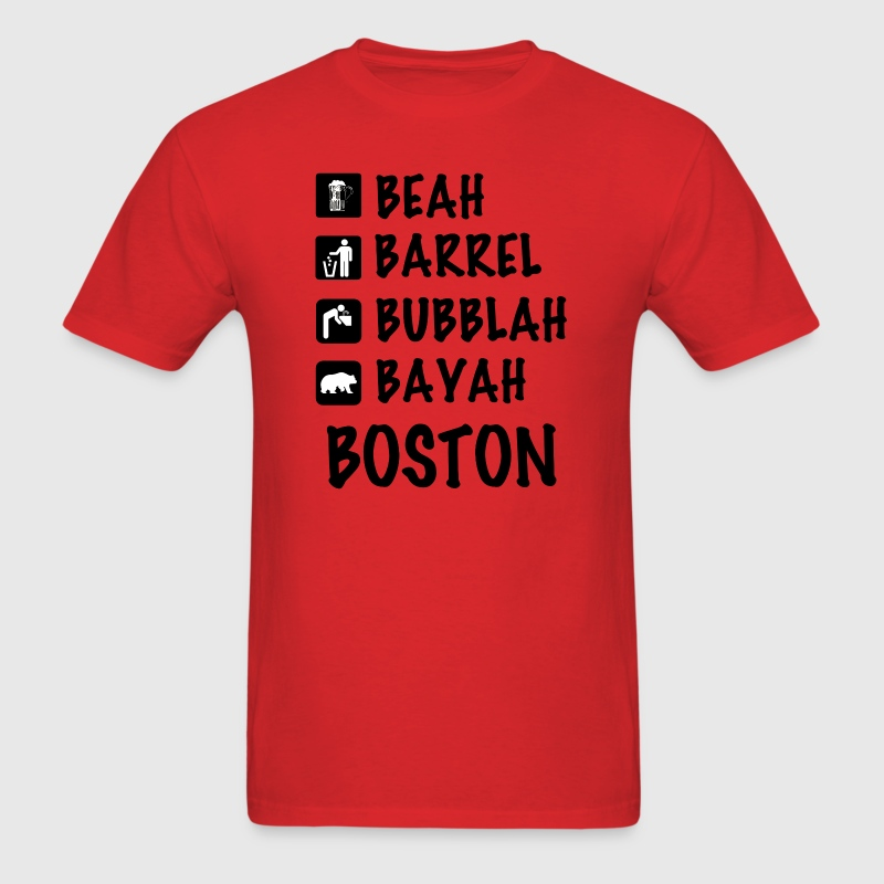 Funny Cute Boston Accent Dialect T-Shirt Shirts T - Men's T-Shirt