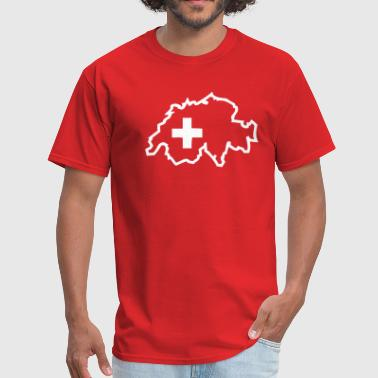 Switzerland Swiss Switzerland - Swiss Cross - Men's T-Shirt