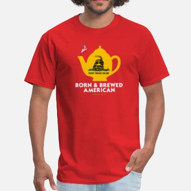 Pot Communism Tea Pot - Born & Brewed on dark - Men's T-Shirt