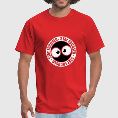 stamp round circle comic cartoon eyes focused stay - Men's T-Shirt