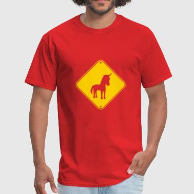 Horse Riding zone caution caution danger note danger shield hap - Men's T-Shirt