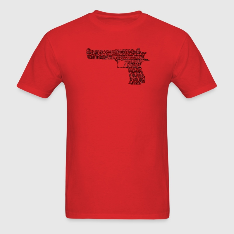 wordsa can kill_desert eagle - Men's T-Shirt