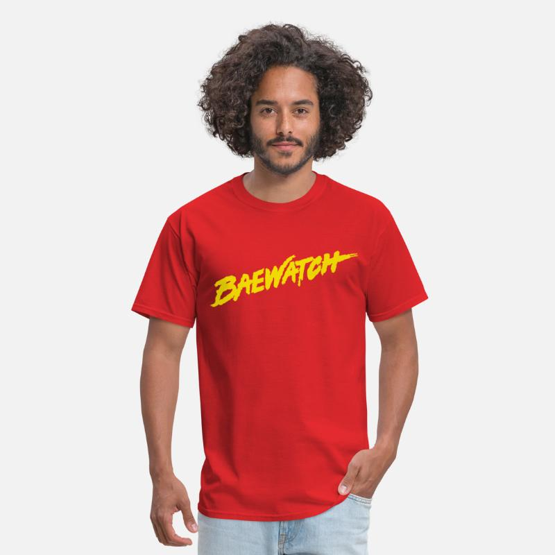 Baywatch T-Shirts - BAEWATCH - Men's T-Shirt red
