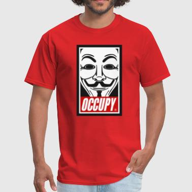 Occupy Anonymous Mask - Men's T-Shirt