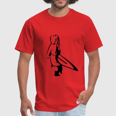 Surfing Girl - Men's T-Shirt