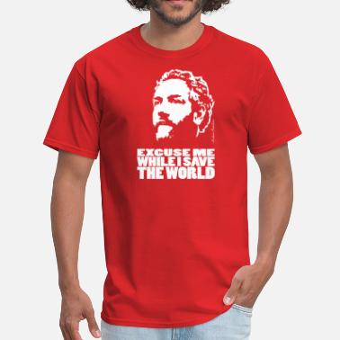 Andrew Breitbart Breitbart - Excuse me while I save the world - shirt, red - Men's T-Shirt