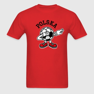 Poland Polska dab dabbing soccer football - Men's T-Shirt