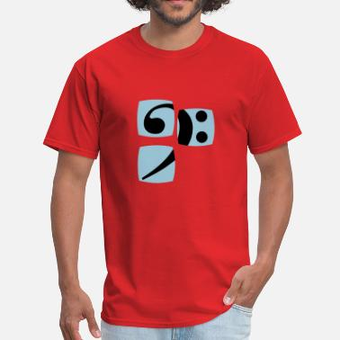 Fuck Bass Player Bass clef for bass player and bass player shows you her bass player and musician - Men's T-Shirt