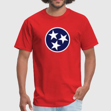 Tennessee State Flag tn-3star-flag - Men's T-Shirt