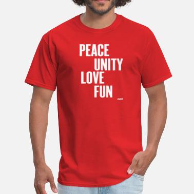 Zulu Nation peace unity love and fun by wam - Men's T-Shirt