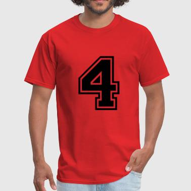 Number Four Number 4 Four - Men's T-Shirt