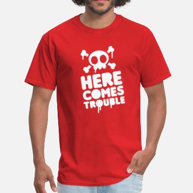 Child Trouble Here comes trouble - Men's T-Shirt