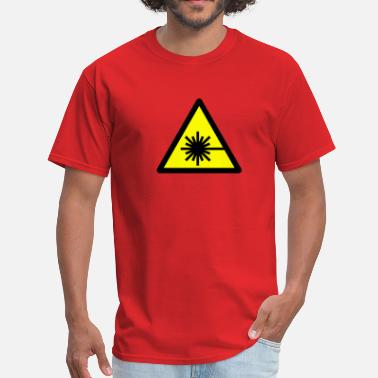 Laser Beam Caution, laser beam - Men's T-Shirt