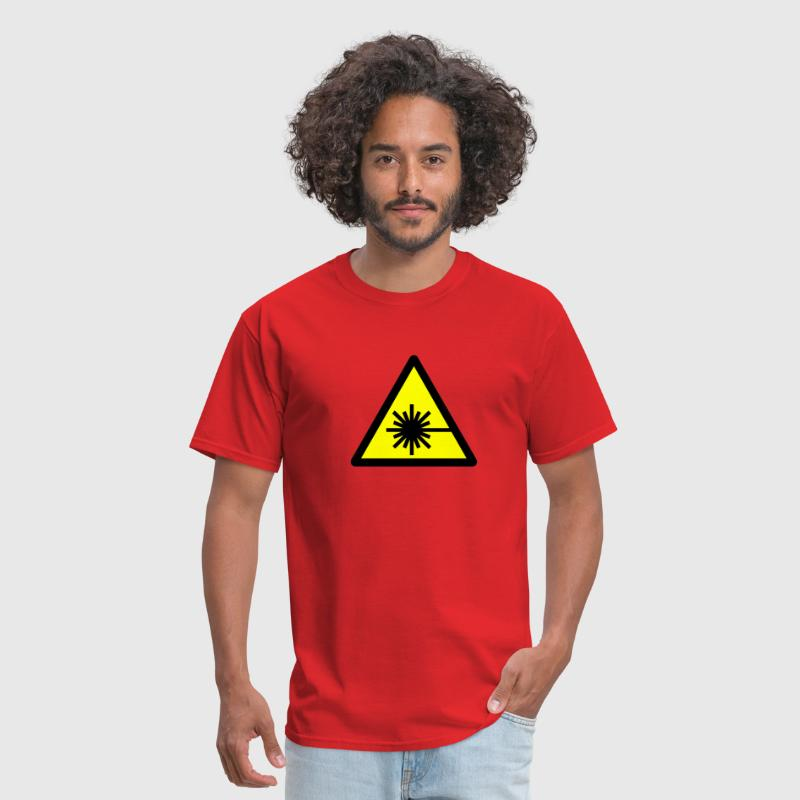 Caution, laser beam - Men's T-Shirt