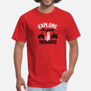 Hacker Inside Explore the great indoors 2clr - Men's T-Shirt
