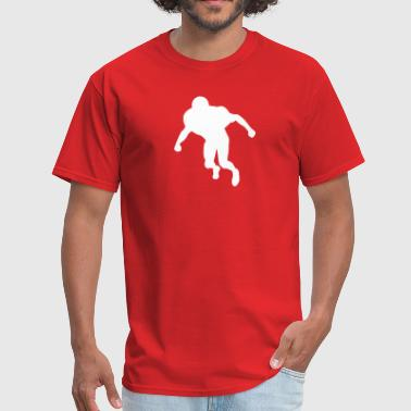 football linebacker silhouette - Men's T-Shirt
