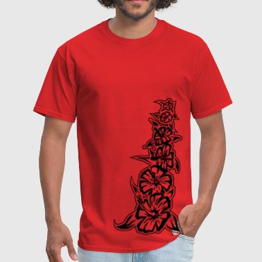 flower tower black - Men's T-Shirt