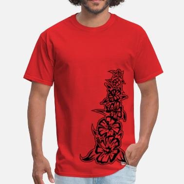Tribal Designs flower tower black - Men's T-Shirt