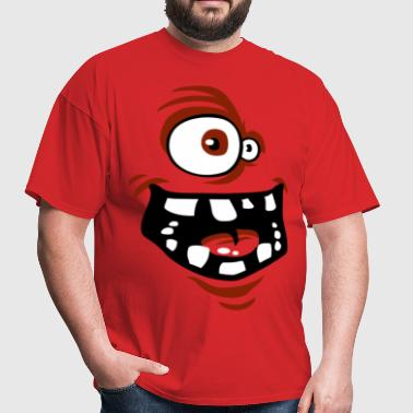 Funny face red - Men's T-Shirt