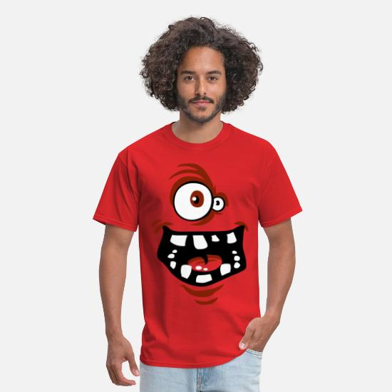 Smile T-Shirts - Funny face red - Men's T-Shirt red