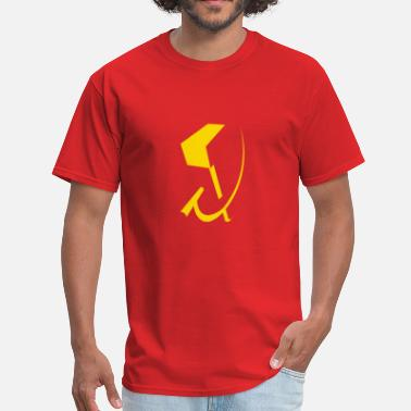 Hammer T-shirt with the Hammer and Sickle. - Men's T-Shirt