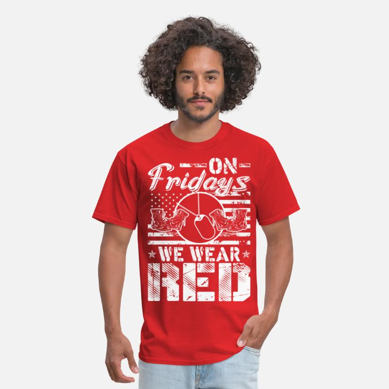 Red T-Shirts - On Fridays We Wear Red - Men's T-Shirt red