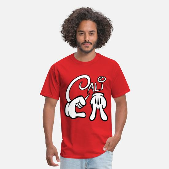 Mickey T-Shirts - CALIFORNIA Mickey Hands - Men's T-Shirt red