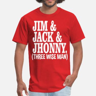 Jim Beam three_wise_man - Men's T-Shirt