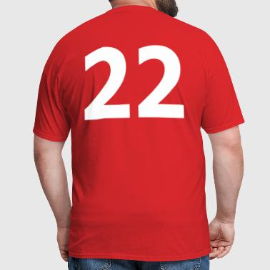 Team letter twenty two 22 - Men's T-Shirt